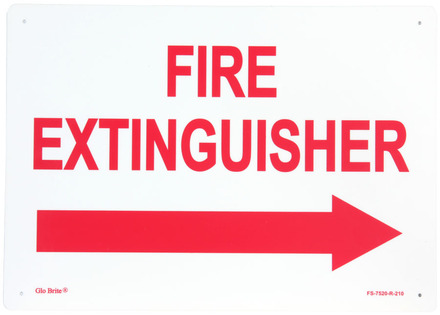 #7520 Glo Brite® Rigid Signage 10in x 14in Photoluminescent/Red picture