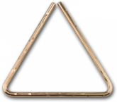 "7"" Hand Hammered B8 Bronze Triangle"