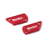 Billet Aluminum Brake/Clutch Cap Set, Red