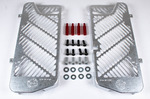 BulletProof Radiator Guards, 125 RR-S/Supermoto, Silver