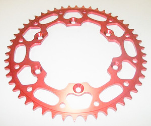 Aluminum Rear Sprocket, Red picture
