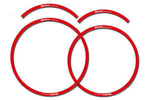 Beta Rim Decal Set, Red or Black picture